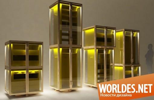 дизайн мебели, дизайн шкафов, дизайн шкафа, шкаф, оригинальный шкаф, необычный шкаф, современный шкаф, оригинальные шкафы, прозрачные шкафы