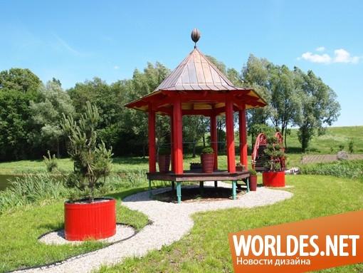 ландшафтный дизайн, дизайн павильона, павильон, павильон для чая, красивый павильон, павильон для отдыха