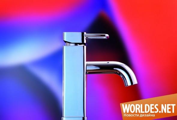дизайн ванной комнаты, дизайн смесителей для ванной комнаты, краны для воды, смесители, смесители для ванной комнаты
