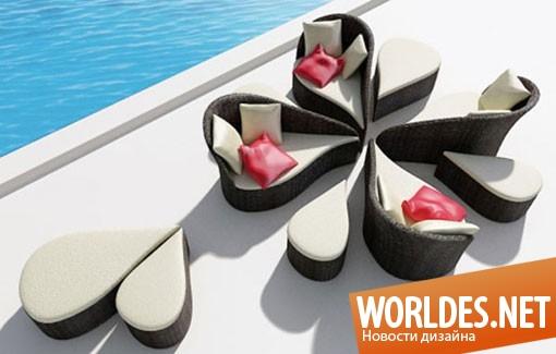 дизайн мебели, дизайн софы, софа, диван, современная софа, красивая софа, мягкая софа, софа для террасы, софа в форме цветка, практичная софа, удобная софа