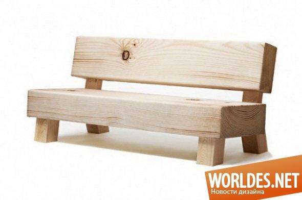 дизайн мебели, дизайн софы, дизайн дивана, диван, софа, оригинальная софа, необычная софа, нестандартная софа, современная софа, скамья, софа в виде скамьи