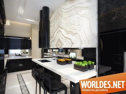 дизайн интерьера, дизайн интерьеров, дизайн интерьера квартиры, квартира, современная квартира, квартира в стиле гламур, черно-белая квартира, квартира в черно-белых тонах, шикарная квартира, роскошная квартира