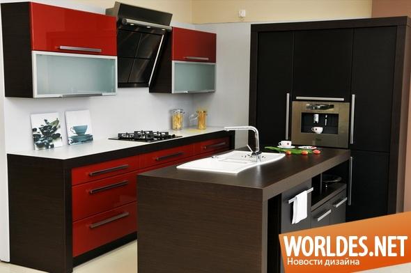 дизайн кухни, дизайн современной кухни, кухня, современная кухня, яркая кухня, красивая кухня