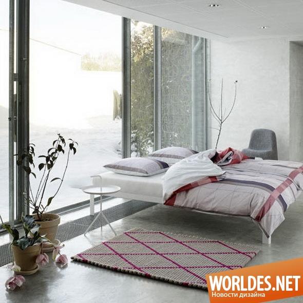 дизайн аксессуаров для спальни, аксессуары для спальни, постельное белье, современное постельное белье