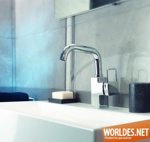 дизайн ванной комнаты, дизайн кранов, краны, смесители, современные краны, практичные краны, экономные краны, стильные краны