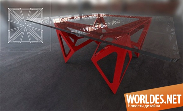 дизайн мебели, дизайн стола, дизайн обеденного стола, мебель, стеклянная мебель, стол, обеденный стол
