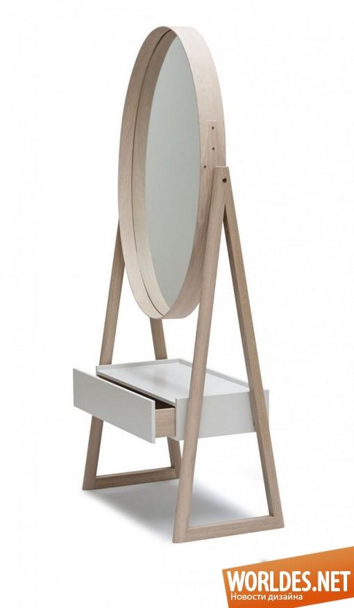 декоративный дизайн, декоративный дизайн зеркала, зеркало, современное зеркало, оригинальное зеркало, стильное зеркало, дубовое зеркало, овальное зеркало, красивое зеркало