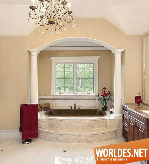дизайн ванной комнаты, дизайн ванных комнат, дизайн ванны, ванная комната, ванные комнаты, стильные ванные комнаты, золотые ванны, медная ванна, современные ванные комнаты