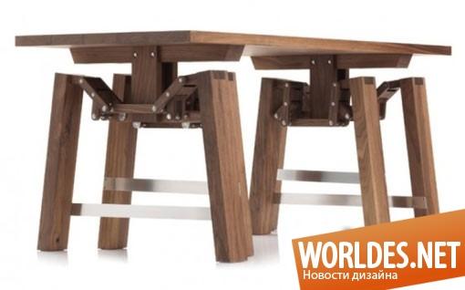 дизайн, дизайн мебели, дизайн стола, дизайн необычного стола, дизайн оригинального стола, стол, столик, стол «Laufender Tisch»