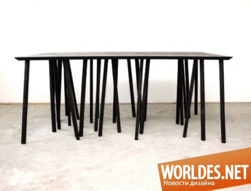 дизайн мебели, дизайн стола, дизайн обеденного стола, стол, обеденный стол, современный стол, оригинальный стол, необычный стол