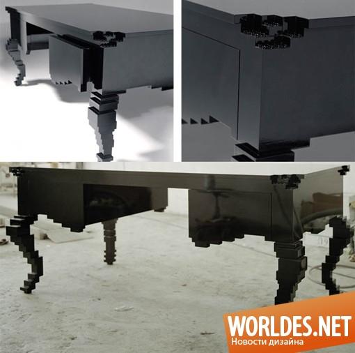 дизайн мебели, дизайн стола, дизайн кабинетного стола, дизайн письменного стола, стол, письменный стол, оригинальный стол, черный стол, стол в стиле рококо, современный стол