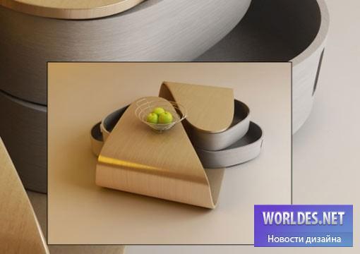 Практический стол с поворотными ящиками