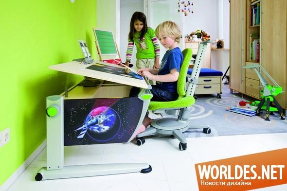 дизайн мебели, дизайн стола, дизайн рабочего стола, мебель, стол, рабочий стол, стол для ребенка, мебель для детской комнаты, столы для детей