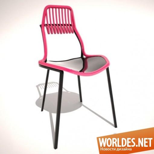 дизайн мебели, дизайн стульев, стулья, оригинальные стулья, яркие стулья, цветные стулья, удобные стулья, современные стулья, необычные стулья, стулья в виде граблей