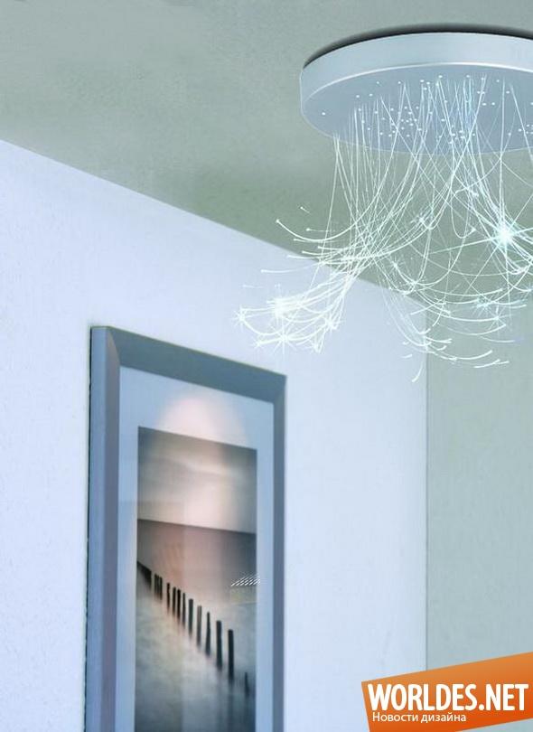 декоративный дизайн, декоративный дизайн освещения, дизайн освещения, дизайн ламп, освещение, лампа, волокно, светодиодное волокно, светящееся волокно, светодиодное оптическое волокно