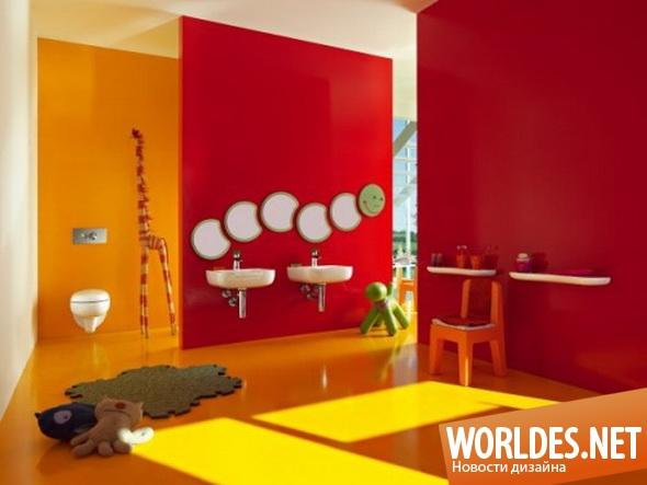 дизайн ванной комнаты, ванная комната, ванная комната для детей, туалетные комнаты для детей