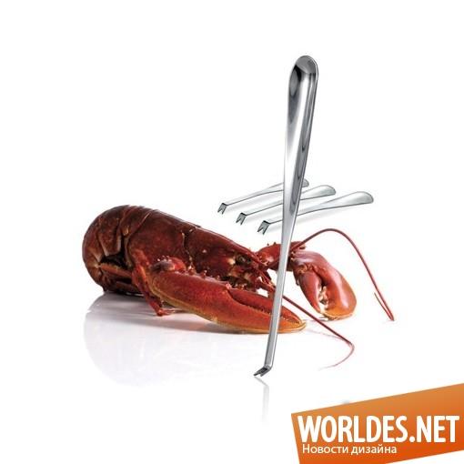 дизайн аксессуаров, дизайн аксессуаров для кухни, дизайн кухонных аксессуаров, дизайн вилок, вилки, вилки для морепродуктов, современные вилки, современные вилки для морепродуктов, удобные вилки