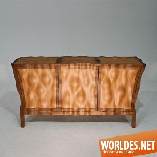 дизайн мебели, дизайн комода, дизайн оригинального комода, дизайн волнистого комода, дизайн деревянного комода, комод, деревянный комод, чувственный комод