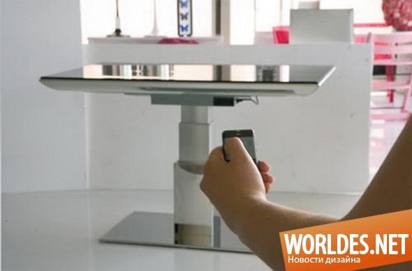дизайн мебели, дизайн стола, стол, стол для гостиной, современный стол, выдвижной стол, практичный стол, роскошный стол