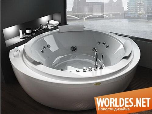 дизайн ванной комнаты, дизайн ванной, ванная комната, современная ванная комната, современная ванна, ванна, угловая ванна, полукруглая ванна, угловые полукруглые ванны