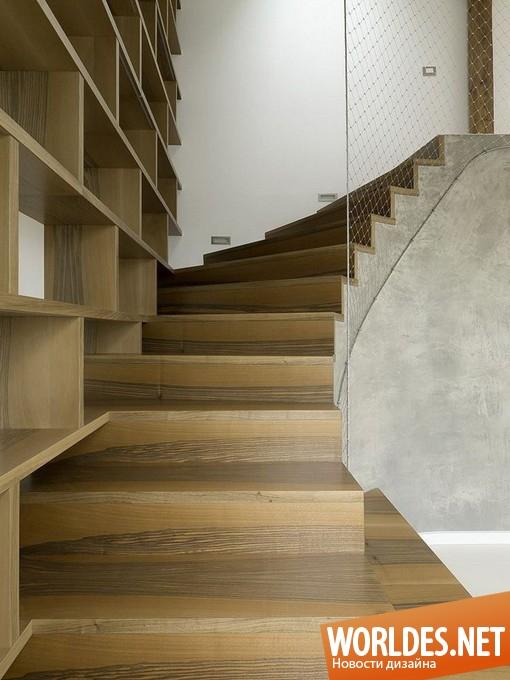 архитектурный дизайн, архитектурный дизайн лофта, лофт, современный лофт, оригинальный лофт, закругленный лофт, светлый лофт