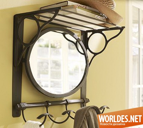декоративный дизайн, декоративный дизайн зеркал, дизайн зеркал, дизайн зеркала, зеркало, зеркало для прихожей, оригинальное зеркало, зеркало деревенского характера, старинное зеркало