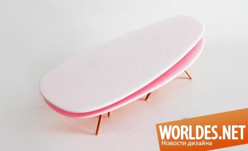 дизайн мебели, дизайн столика, дизайн журнального столика, столик, журнальный столик, оригинальный столик, оригинальный журнальный столик, современный столик, столик в виде пирожного, необычный столик