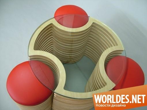 дизайн, дизайн мебели, дизайн столика, дизайн журнального столика, столик, журнальный столик, журнальный столик со стульями от Мартина Галлахера