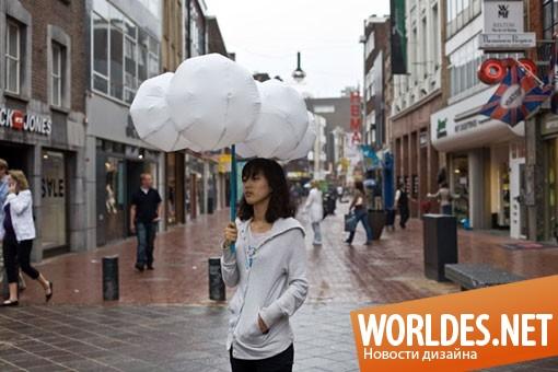 декоративный дизайн, декоративный дизайн зонтов, дизайн зонтов, зонт, зонты, современный зонт, оригинальный зонт, зонт в форму облака