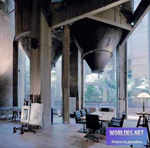 дизайн, дизайн дома, дизайн интерьера, цементный завод, интерьер цементного завода, цементный завод как дом, место жительства завод