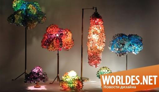 декоративный дизайн лампы, дизайн лампы, дизайн цветной лампы, дизайн оригинальных лам, оригинальные лампы, экологические лампы, экологически чистые лампы