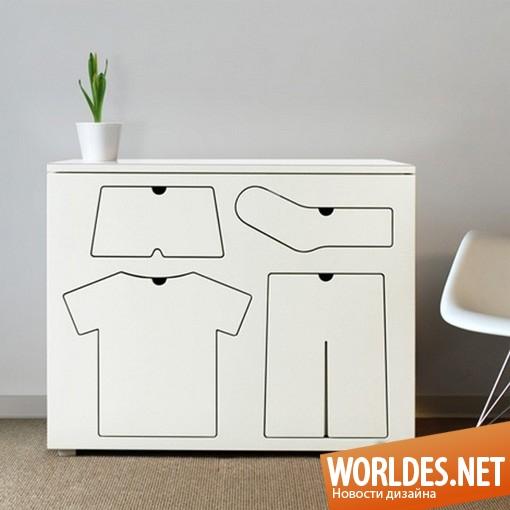 дизайн, дизайн мебели, дизайн комода, комод, комод для порядка, дизайн комода для спальни, белый комод, интересный комод