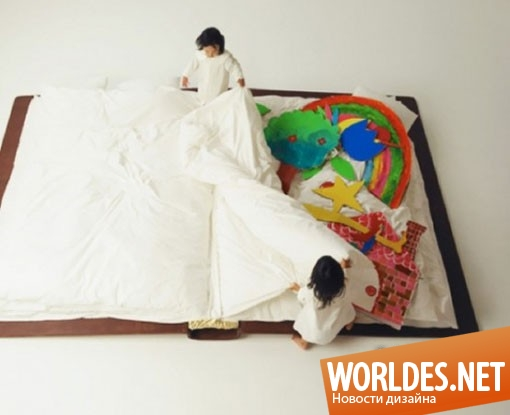 дизайн, дизайн мебели, дизайн кровати, дизайн японской кровати, японская мебель, японская кровать, кровать в форме книги