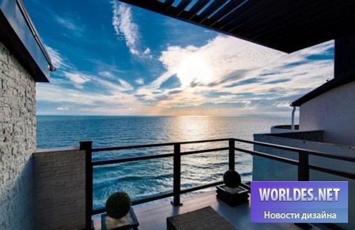 дизайн, дизайн интерьера, дизайн современного интерьера, дизайн интерьера дома, дизайн интерьера с видом на море, дом с видом на море, квартира с видом на море