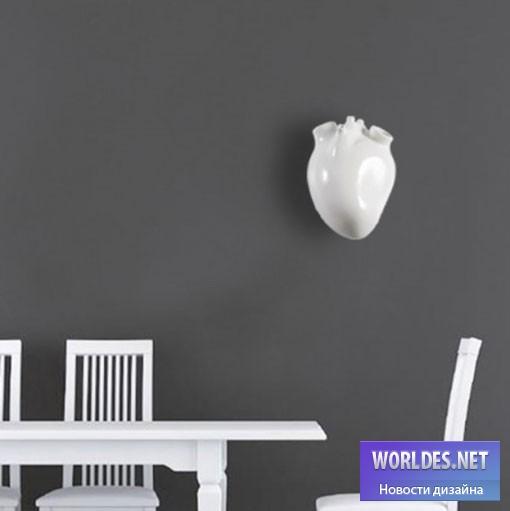 дизайн, Декоративный дизайн, дизайн лампы, дизайн люстры, дизайн освещение, дизайн света, оригинальный светильник, дизайн светильника, светильник в форме сердца