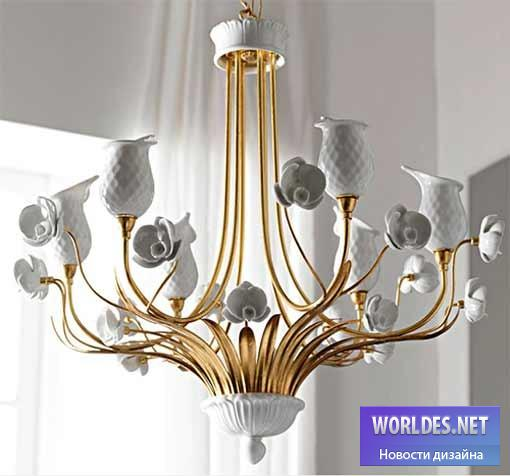 дизайн, Декоративный дизай, дизайн лампы, дизайн люстры, дизайн освещение, дизайн света, дизайн итальянской люстры, люстра из фарфора