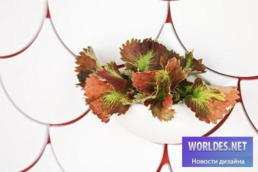 дизайн, декоративный дизайн, дизайн горшков для цветков, горшок для цветов, плитка на стены, плитка горшок, дизайн керамической плитки