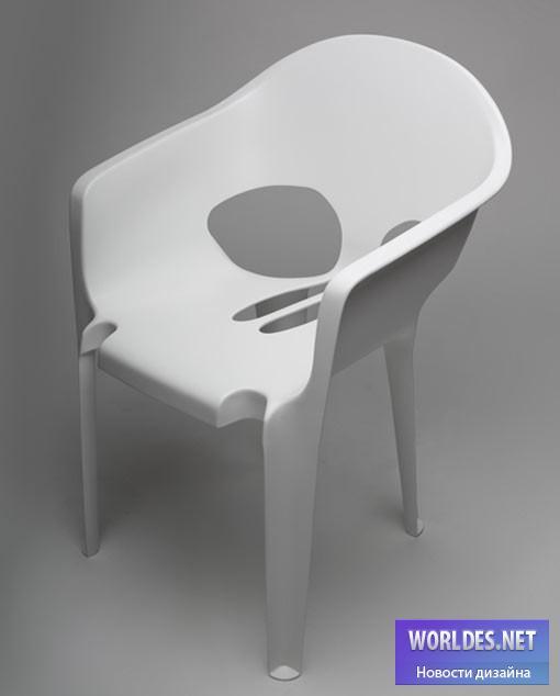 дизайн, дизайн мебели, дизайн стула, дизайн пластикового стула, стул, стул в виде черепа, пластиковый стул