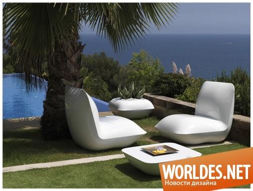 дизайн садовой мебели, мебель для сада, дизайн мебели с подсветкой, садовая мебель с подсветкой, мебель с подсветкой, светящиеся мебель
