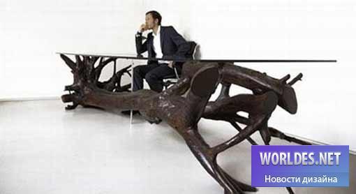 дизайн, дизайн мебели, дизайн стола, дизайн офисного стола, дизайн стола для конференций, стол в виде дерева